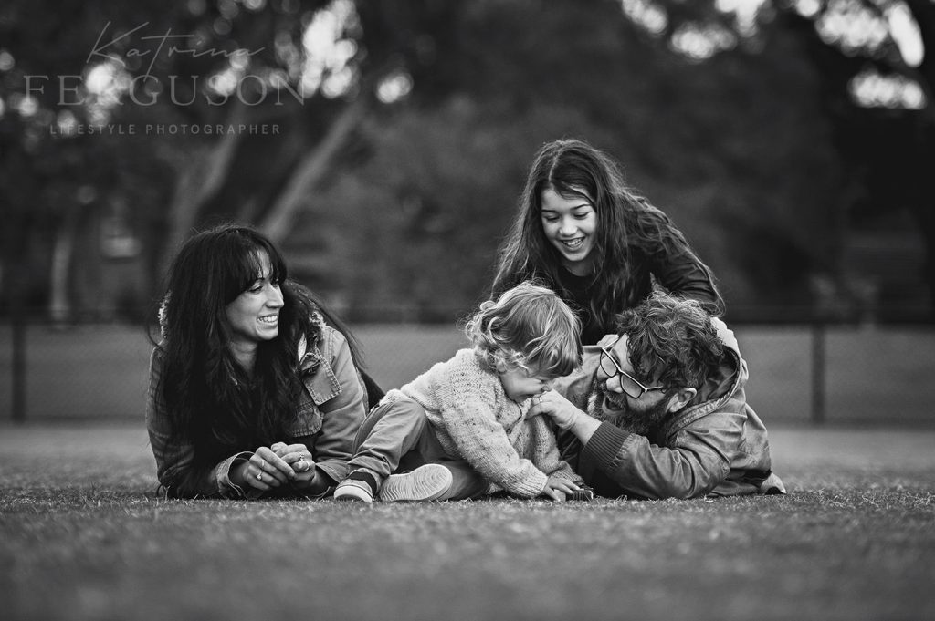 Alan Moyle and family during a lifestyle family photo session in Beaumaris