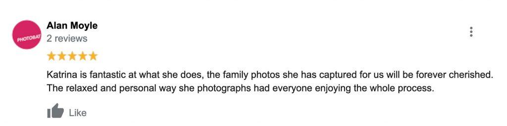 Review for photographer Katrina Ferguson written by Alan Moyle